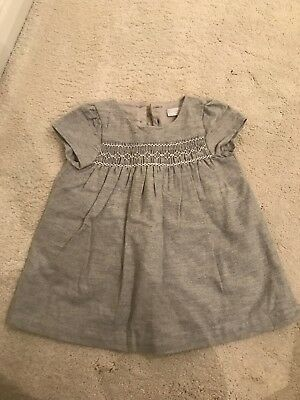The Little White Company Girls Dress 3-6 Months
