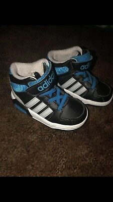 c4010edd711d3 ADIDAS NEO BB9TIS MID INF Infant Toddler Black Turquoi High Top Sneakers  Shoes 5