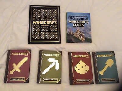 """Complete set of 6 x """"Minecraft"""" books - excellent condition.  (RRP over £50.00)."""