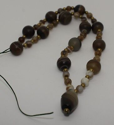Ancient Agate Bead Necklace - No Reserve 0902