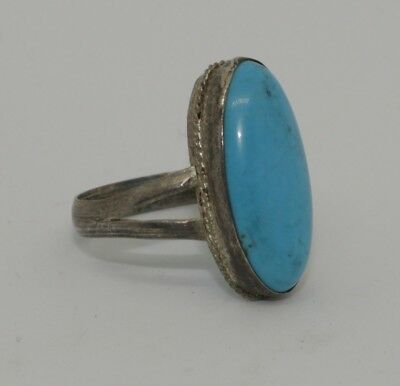 Nice Post Medieval Silver & Turquoise Ring - No Reserve  902