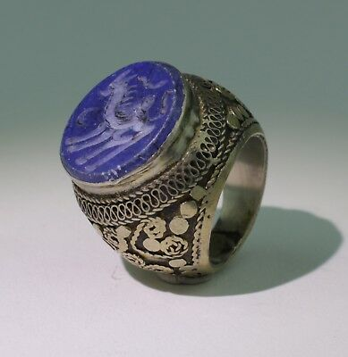 Large Post Medieval Silver Ring - No Reserve 0110