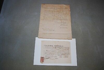 Civil War 1864 Extremely Rare Military Draft Substitute Documents New Jersey