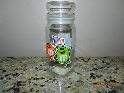 Vintage M&M's 1984 L.A. Olympic Commemorative Candy Jar/Canister With Lid