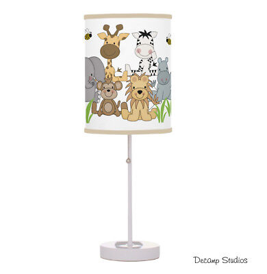 Baby Nursery Lamp Safari Jungle Animals Boy Table Night