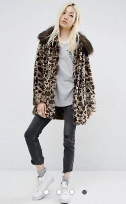 946e53b4fb9ac UNREAL FUR  FAUX Fur Leopard Print Coat (Small) From ASOS -  45.61 ...