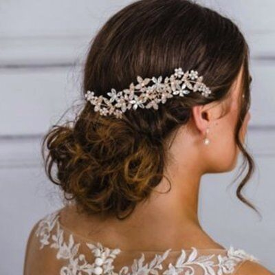 Crystal Hair Jewelry Charming Wedding Hair Comb Flower Bride Headdress E4