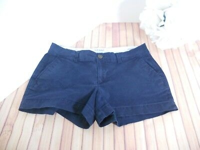 Old Navy Women Size 4 Navy Blue Cotton Stretch Chino Twill Shorts