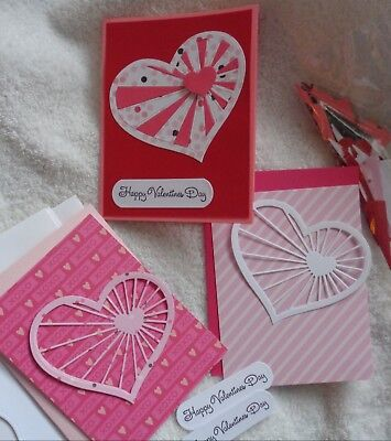 VALENTINE Card Kit Concord & 9th Heartstrings Stampin Up! PINK
