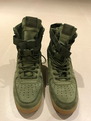 9f101526a83 NIKE AIR FORCE One Boots, Green, Men's SIZE 10.5 USED