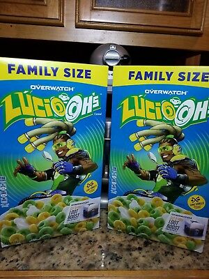2 Boxes!! Overwatch Lucio-Ohs Cereal