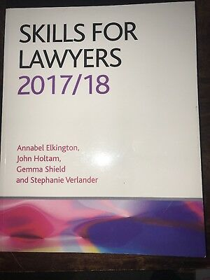 Skills for Lawyers 2017/2018 (CLP Legal Practice Guides) by Gemma Shield Book