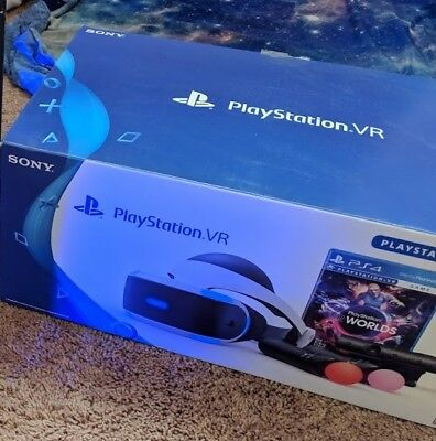 USED Sony PlayStation VR Headset PSVR with 2 Motion controllers and Camera