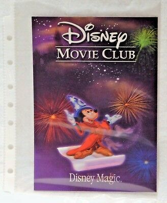 DISNEY MAGIC DELIVERED MICKEY MOUSE Disney Movie Club 3D Lenticular Card NEW
