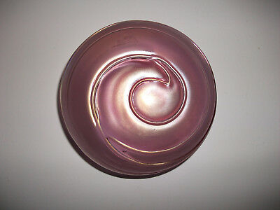 Vintage Levay Hand Crafted Studio Art Glass Iridescent Swirled Paperweight,