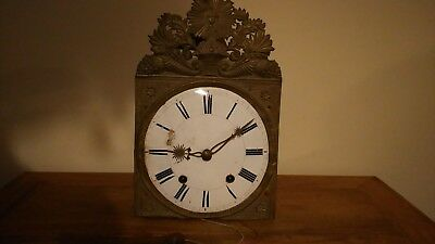 Antique / Vintage Clock Movement With Dial - For Restoration