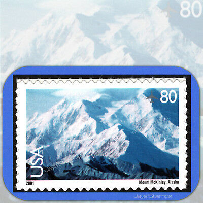 2001 MOUNT McKINLEY Scenic American Landscapes 80¢ Single AIR MAIL #C137