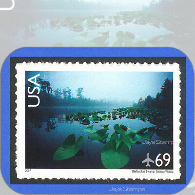 2007 OKEFENOKEE SWAMP Scenic American Landscapes 69¢ Single AIR MAIL #C142