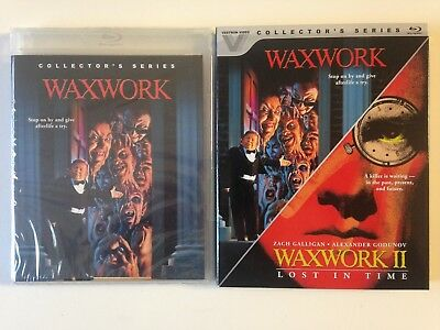 Waxwork 1  2 Double Feature (Blu-ray, 2016, 2-Disc Set)(NEW) slipcover OOP RARE