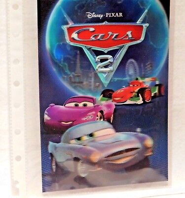 CARS 2  Disney Movie Club 3D Lenticular Card Collectible Exclusive