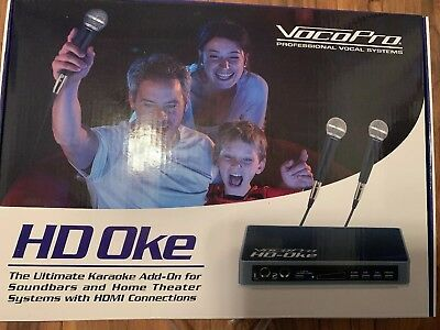Vocopro Karaoke Mixer For Sound Bars & Home Theater Systems with HDMI Connection