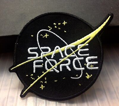 SPACE force patch Embroidered    2.75 INCH   DONALD J. TRUMP MILITARY NASA BLACK