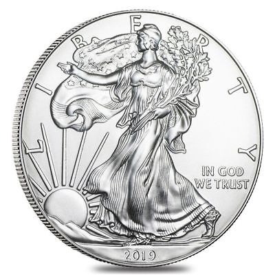 Lot of 3 - 2019 One Troy Oz .999 Fine Silver American Eagle Coins BU