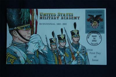 US Military Academy Bicentennial Cadets FDC Handpainted Collins#K3501 Sc#3560