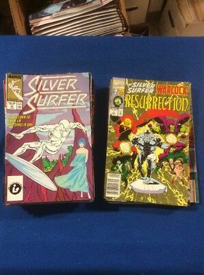 Marvel: Silver Surfer Comic Book Lot: 40 Different Issues From 1980's & Up.