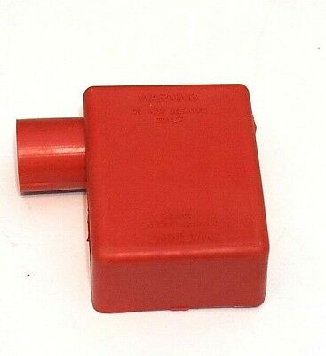 Battery Terminal Boot Elbow Protector 1 Right Positive Red 2/0 Gauge Wire