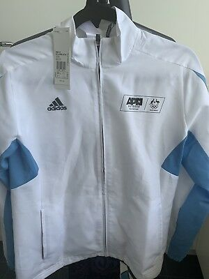 Adidas Ladies Womens Climacool Track Suit M Jacket White With Blue Stripes 'NEW'