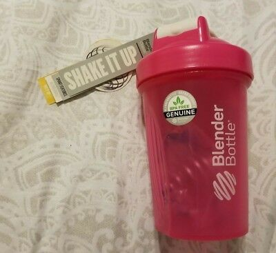 Brand New Pink 20oz Blender Bottle with Mixer Ball