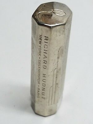 Vintage Art Deco Richard Hudnut Chrome Tube Lipstick