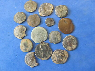 Wonderful RARE Lot of 15 Iberian Celtic Coins /Spain