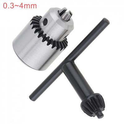 Micro 0.3-4mm JTO Taper Mounted Drill Chuck + Key Wrench + Rod for Lathe Drill