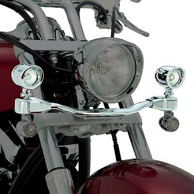 Show Chrome Mini Elliptical Driving Light Bar Kit For Vulcan VN2000 Classic
