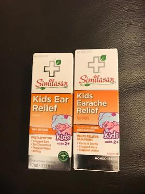 Lot of 2 Similasan Kids Earache Relief Homeopathic 10mL NEW FAST SHIP