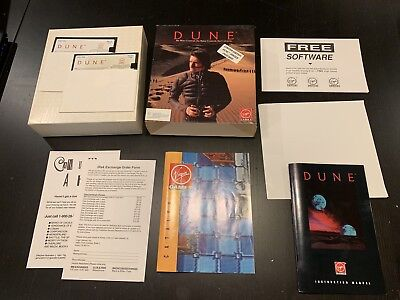 Vintage Dune Limited Edition Complete In Big Box Retail PC With Poster Rare IBM