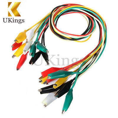 10PCS Crocodile Clips Cable Double-ended Alligator Jumper Test Leads Wire