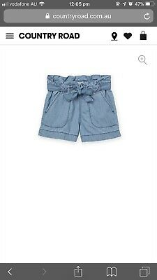Girls Country Road size 2 denim Chambray soft shorts current Worn Once