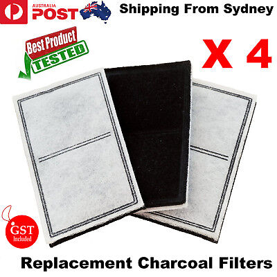 Replacement Charcoal Filters 4 Packs for PetSafe Drinkwell Pet Water Fountain AU