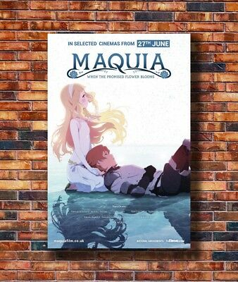 New Maquia When the Promised Flower Blooms Japan Anime Poster 14x21 24x36 X-1833