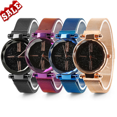 Luxury Women Starry Sky Watch Magnet Strap Buckle Star Watch Lover Gift VP8