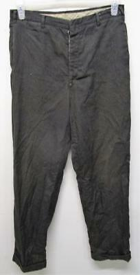 VINTAGE DESTROYED 1950's - 60's FARM WORK PANTS 29X31