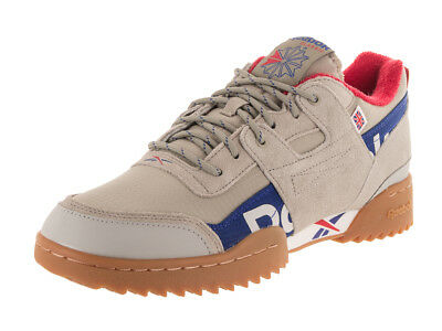 2ee101c6513d49 Reebok Men s Workout Plus Ripple Mu Classic Neautral Royal Red Grey Casual  Shoe