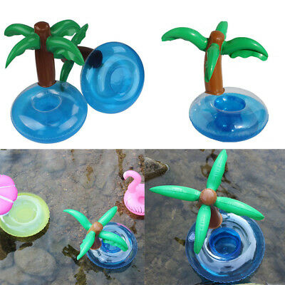Coconut Tree Inflatable Floating Swimming Pool Beverage Drink Can Cup Holder @I
