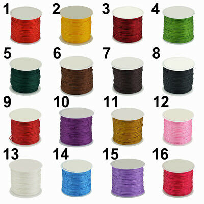 DIY 0.8mm x 45 m Waxed Cotton Cord Wire Thread Beading Macrame String Jewelry