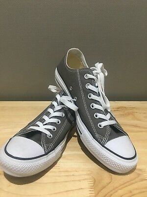 REDUCED: Converse Leather Chuck Taylor All Star Unisex Low Top Sneaker Charcoal
