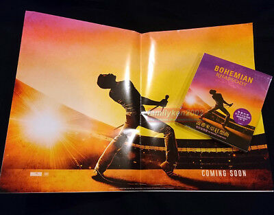 QUEEN Bohemian Rhapsody OST 2018 CD+Poster+Cards NEW Freddie Mercury David Bowie