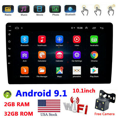 Android 8.1 Car MP5 Player GPS 2Din 10.1'' HD In-Dash Stereo Radio Unit W/CAM